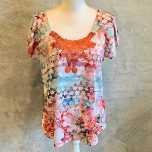 ⭐️3 FOR $50 NWOT One World Short Bell Sleeved Top